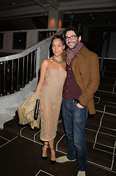 CUSH JUMBO and TOM ELLIS at the Old Vic 24 Hour Plays Celebrity Gala held at the Rosewood Hotel, 252 High Holborn, London on 24th November 2013.