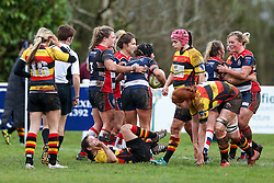 Bristol Ladies celebrate a try for Clara Nielson - Rogan Thomson/JMP - 15/01/2017 - RUGBY UNION - Cleve RFC - Bristol, England - Bristol Ladies Rugby v Richmond WRFC - RFU Women's Premiership.