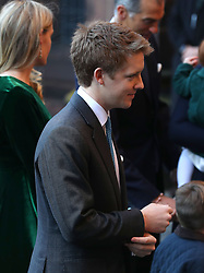 The 7th Duke of Westminster, Hugh Grosvenor, arriving for a memorial service to celebrate the life of his father, the sixth Duke of Westminster at Chester Cathedral, Chester.