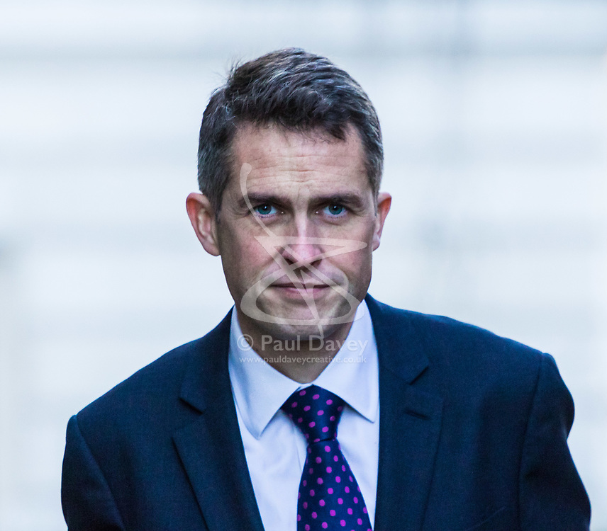 London, December 18 2017. Defence Secretary Gavin Williamson arrives at 10 Downing Street fora meeting of Prime Minister Theresa May's 'Brexit Cabinet'. © Paul Davey