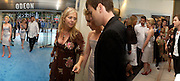 "Scarlett Johansen and Ewan McGregor, P.R. Kiera Parks in centre,  at the UK Premiere of ""The Island"" at the Odeon Leicester Square, London. 7 August 2005. , ONE TIME USE ONLY - DO NOT ARCHIVE  © Copyright Photograph by Dafydd Jones 66 Stockwell Park Rd. London SW9 0DA Tel 020 7733 0108 www.dafjones.com"
