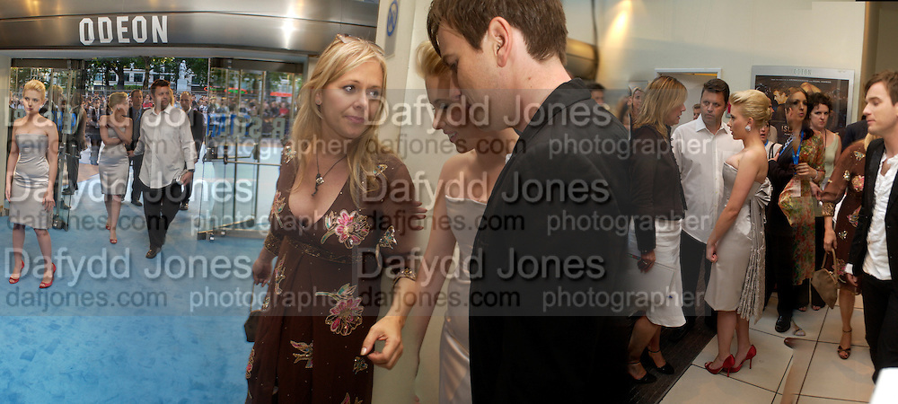 """Scarlett Johansen and Ewan McGregor, P.R. Kiera Parks in centre,  at the UK Premiere of """"The Island"""" at the Odeon Leicester Square, London. 7 August 2005. , ONE TIME USE ONLY - DO NOT ARCHIVE  © Copyright Photograph by Dafydd Jones 66 Stockwell Park Rd. London SW9 0DA Tel 020 7733 0108 www.dafjones.com"""