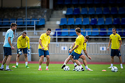 Players of NK Domzale during practice session before football match between NK Domzale and FC Lusitanos Andorra in second leg of UEFA Europa league qualifications on July 6, 2016 in Andorra la Vella, Andorra. Photo by Ziga Zupan / Sportida