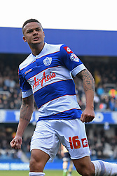 QPR's Jermaine Jenas celebrate a goal - Photo mandatory by-line: Mitchell Gunn/JMP - Tel: Mobile: 07966 386802 01/03/2014 - SPORT - FOOTBALL - Loftus Road - London - Queens Park Rangers v Leeds United - Championship