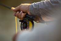 CLOSEUP OF A FLY REEL