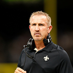 August 17, 2012; New Orleans, LA, USA; New Orleans Saints defensive coordinator Steve Spagnuolo against the Jacksonville Jaguars during the first half of a preseason game at the Mercedes-Benz Superdome. Mandatory Credit: Derick E. Hingle-US PRESSWIRE