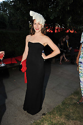 CHARLOTTE DELLAL at the annual Serpentine Gallery Summer party this year sponsored by Jaguar held at the Serpentine Gallery, Kensington Gardens, London on 8th July 2010.  2010 marks the 40th anniversary of the Serpentine Gallery and the 10th Pavilion.