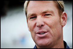Portraits of cricketer Shane Warne  at The Oval Cricket Ground, London,<br /> Thursday, 30th May 2013<br /> Picture by Andrew Parsons / i-Images