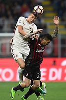Edin Dzeko-Jose' Ernesto Sosa<br /> Milano 07/05/2017 Stadio Giuseppe Meazza - campionato di calcio serie A, Milan-Roma, foto Image Sport/Insidefoto