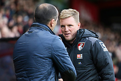 Bournemouth Manager Eddie Howe greets Everton Manager Roberto Martinez - Mandatory by-line: Jason Brown/JMP - Mobile 07966 386802 28/11/2015 - SPORT - FOOTBALL - Bournemouth, Vitality Stadium - AFC Bournemouth v Everton - Barclays Premier League