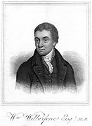 William  Wilberforce (1759-1833) English philanthropist, evangelical Christian and campaigner for abolition of slavery. Engraving