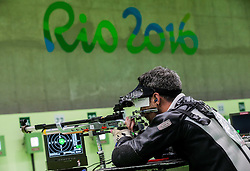 James Bevis of Great Britain during Qualification of R5 - Mixed 10m Air Rifle Prone SH2 on day 6 during the Rio 2016 Summer Paralympics Games on September 13, 2016 in Olympic Shooting Centre, Rio de Janeiro, Brazil. Photo by Vid Ponikvar / Sportida