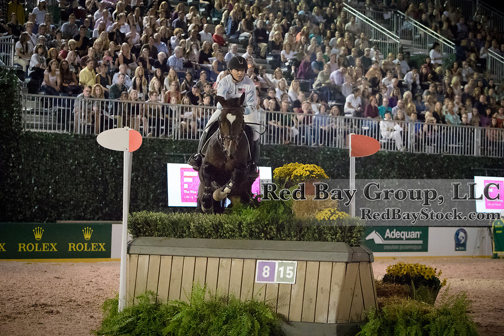 Marilyn Little riding Keep Kitty competes in the inaugural U.S. Open $50,000 Arena Eventing competition, presented by The Fite Group Luxury Homes, at the Rolex Central Park Horse Show, where Land Rover was the official vehicle sponsor on September 23, 2017 in New York City.