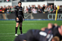 Alex Goode of Saracens - Photo mandatory by-line: Patrick Khachfe/JMP - Mobile: 07966 386802 11/04/2015 - SPORT - RUGBY UNION - London - Allianz Park - Saracens v Leicester Tigers - Aviva Premiership