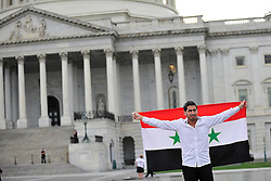 9/9/2013 Washington, DC Members of the Lehigh Valley Syrian community rally Monday in Washington, DC against the United States actions in Syria. Express-Times Photo | CHRIS POST