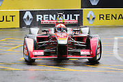 Dragon Racing driver, Jerome D'Ambrosio going through the wet chicane during Round 9 of Formula E, Battersea Park, London, United Kingdom on 2 July 2016. Photo by Matthew Redman.