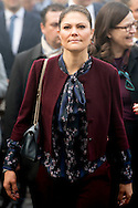 17-12-2016 MILAN ITALY - Princess Victoria and Prince Daniel visit THE RESEARCH HOSPITAL SAN RAFFAELE The Crown Princess Couple's Princess Victoria and Prince Daniel visit to Rome and Milan, Italy, December 15-17  COPYRIGHT ROBIN UTRECHT