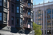 Belle Epoque style architecture of buildings in Back Bay district of Boston, USA