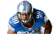 Portrait shoot of Detroit Lions defensive tackle Ndamukong Suh for the Sporting News magazine feature on Top 100 Players in the NFL.
