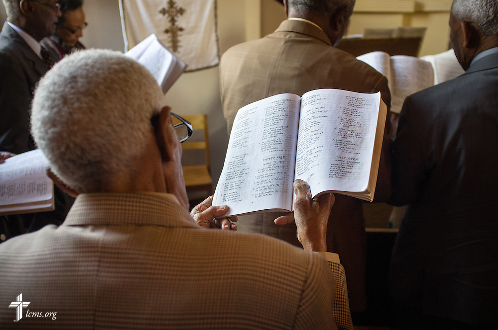 Worship begins at the EECMY Mother Church in Addis Ababa, Ethiopia, on Sunday, Nov. 9, 2014. LCMS Communications/Erik M. Lunsford