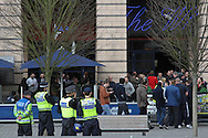 Picture by David Horn/Focus Images Ltd +44 7545 970036.16/02/2013.A strong police presence in Luton Town centre ahead of the game between Luton Town and Millwall in the The FA Cup match at Kenilworth Road, Luton.