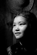 Kaili, Guizhou, China, August 10th 2007: Portrait of an 11 year old Miao girl..Photo: Joseph Feil