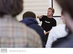 Don McGlashan leads a songwriting workshop with students from the Wellington region as part of the New Zealand International Arts Festival 2006.