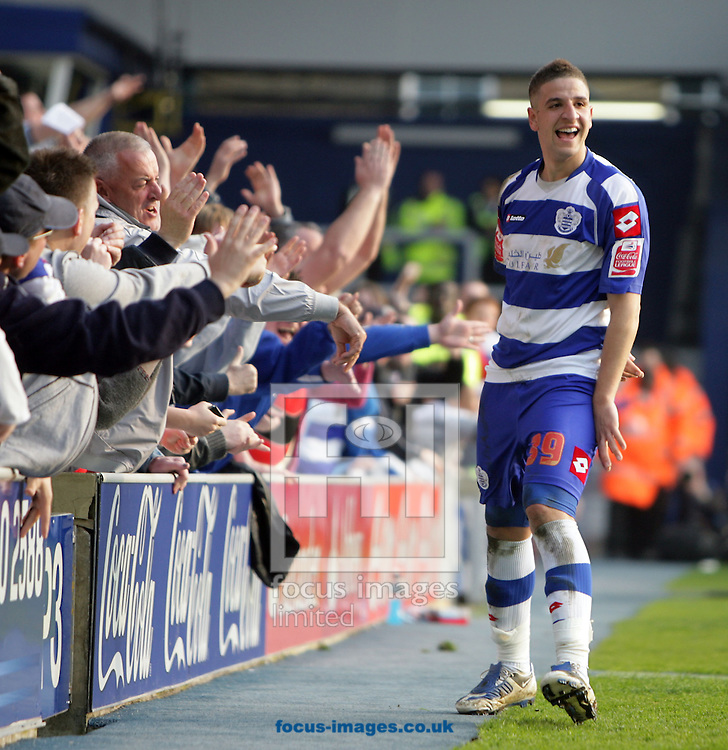 London - Saturday March 21st, 2009: Adel Taarabt of QPR celebrates scoring his side's second goal during the Coca Cola Championship match at Loftus Road, London. (Pic by Mark Chapman/Focus Images)