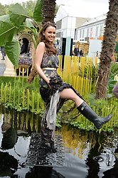 CAMILLA HANSSON - Miss Sweden 2014 at the 2015 RHS Chelsea Flower Show at the Royal Hospital Chelsea, London on 18th May 2015.