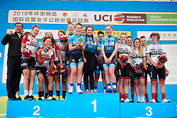 Hitec Products Birk Sport win the team award ahead of Lotto Soudal Ladies and Doltcini Van Eyck Sport at Tour of Chongming Island 2019 - Stage 3, a 118.4 km road race on Chongming Island, China on May 11, 2019. Photo by Sean Robinson/velofocus.com