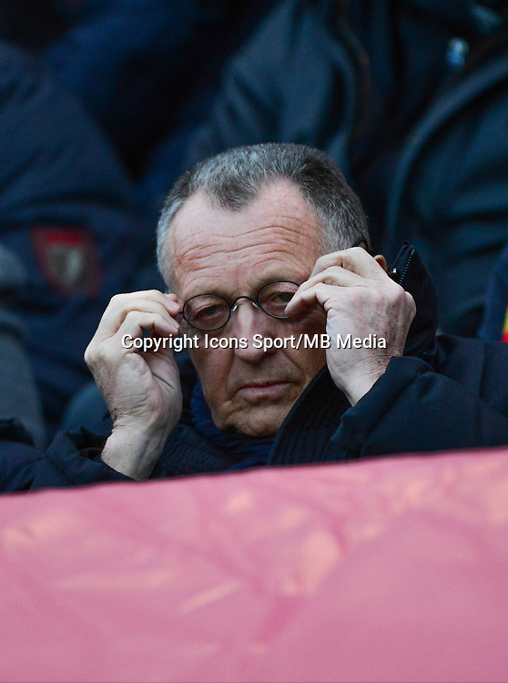 Jean Michel AULAS - 17.01.2015 - Lens / Lyon - 21eme journee Ligue 1<br />