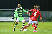 Forest Green Rovers Delano Sam-Yorke, during the The County Cup match between Forest Green Rovers and Bristol City at the New Lawn, Forest Green, United Kingdom on 23 November 2015. Photo by Shane Healey.