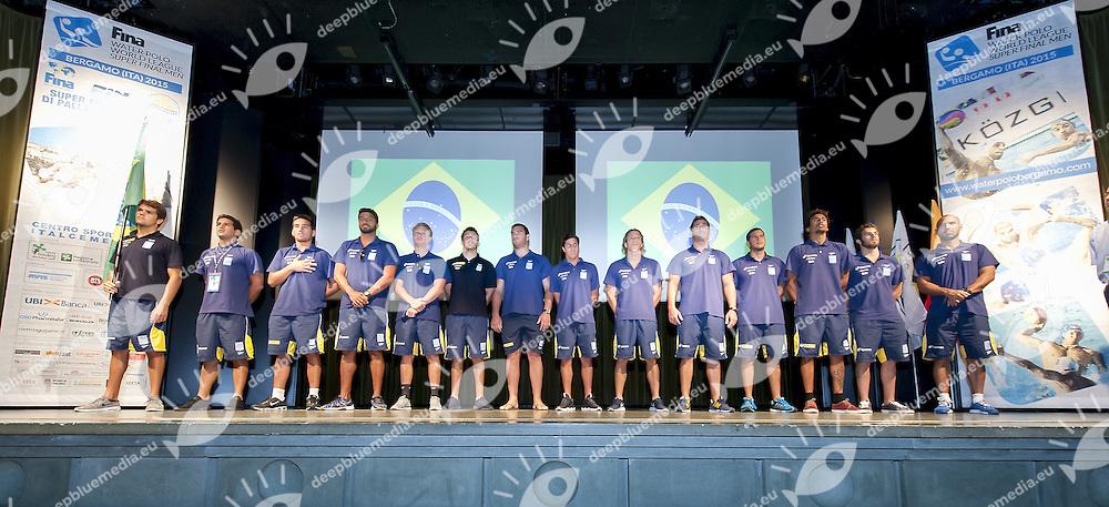 Brasil<br /> Opening Ceremony<br /> day 00 - 22/06/2015<br /> FINA Water Polo World League Superfinal Men<br /> Bergamo (ITA) 23-28 June 2015<br /> Photo G.Scala/Deepbluemedia