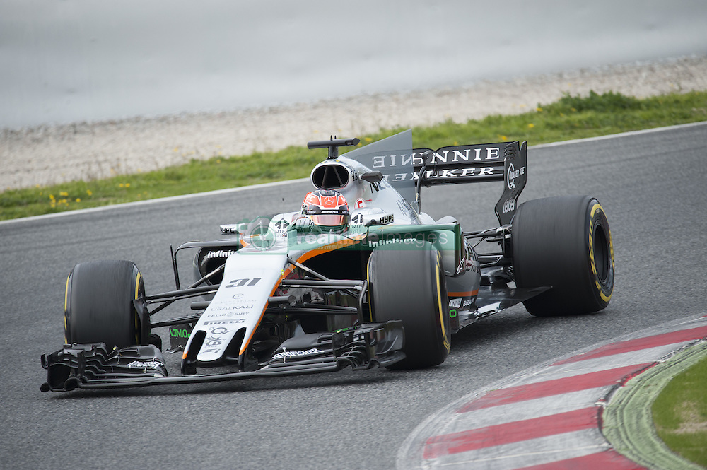 February 28, 2017 - Montmelo, Spain - Esteban Ocon, driver of the Sahara Force India F1 Team, in action during the 2nd day of the Formula 1 Test at the Circuit of Catalunya. (Credit Image: © Pablo Freuku/Pacific Press via ZUMA Wire)
