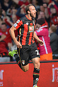 AFC Bournemouth's striker Glenn Murray celebrates his goal during the Barclays Premier League match between Bournemouth and Watford at the Goldsands Stadium, Bournemouth, England on 3 October 2015. Photo by Mark Davies.