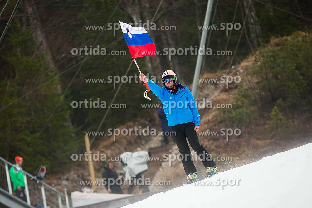 Slovenian flag during the Ski Flying Hill Individual Qualification at Day 1 of FIS Ski Jumping World Cup Final 2017, on March 22, 2017 in Planica, Slovenia. Photo by Ziga Zupan / Sportida