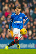 Steven Davis (#10) of Rangers FC during the Ladbrokes Scottish Premiership match between Rangers FC and Heart of Midlothian FC at Ibrox Park, Glasgow, Scotland on 1 December 2019.