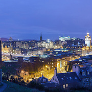 Edinburgh panoramic city skyline