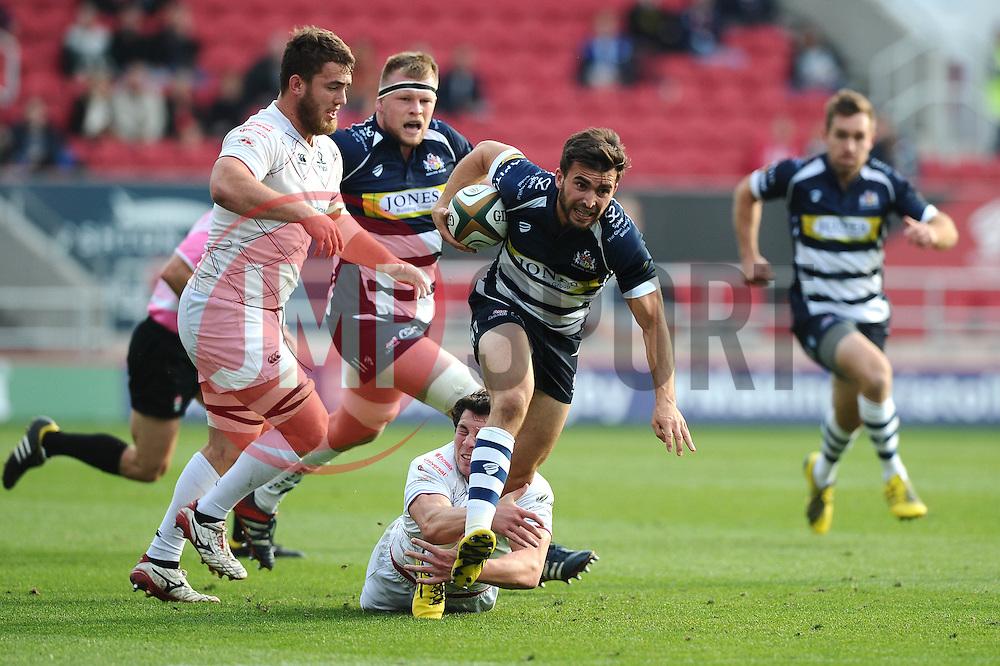 Bristol Rugby replacement Craig Hampson breaks away   - Mandatory byline: Joe Meredith/JMP - 07966386802 - 04/10/2015 - RUGBY - Ashton Gate -Bristol,England - Bristol Rugby v Rotherham Titans - Greene King IPA Championship