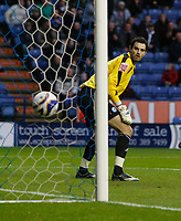 Photo: Steve Bond/Richard Lane Photography. Leicester City v Peterborough United. Coca-Cola Football League One. 20/12/2008. Joe Lewis watches as the own goal crosses the line