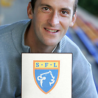 St Johnstone FC's Paul Sheerin who has been named SFL Player of the Month for October pictured at McDiarmid Park with his award.<br />