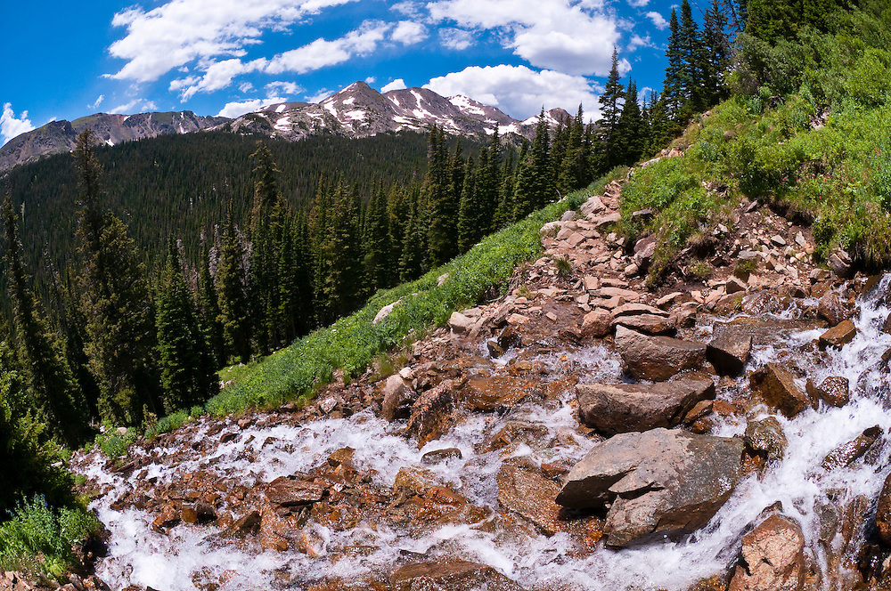 Fourth of July trail in the Rocky Mountains, near Nederland, Colorado USA