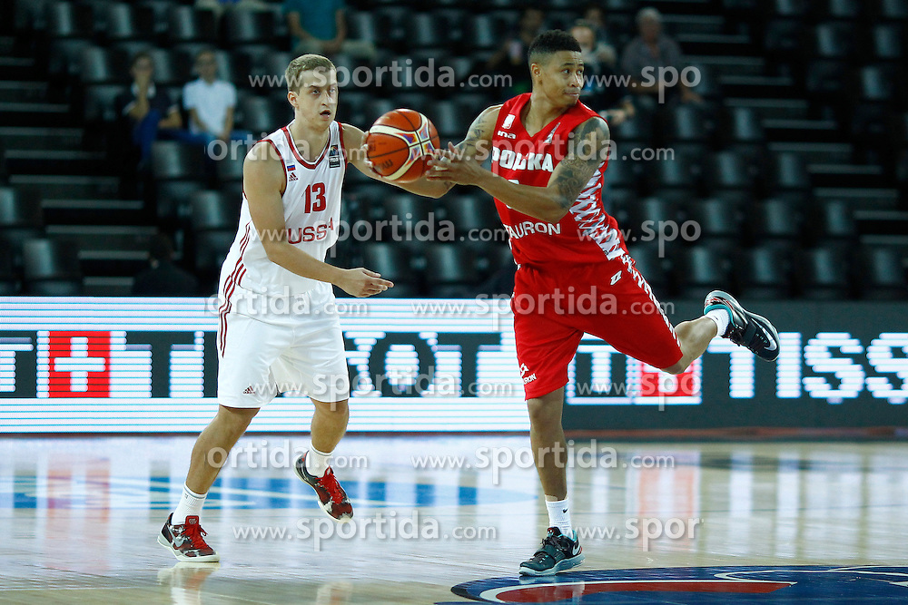 06.09.2015, Park Suites Arena, Montpellier, FRA, Russland vs Polen, Gruppe A, im Bild aj slaughter // during the FIBA Eurobasket 2015, group A match between Russia and Poland at the Park Suites Arena in Montpellier, France on 2015/09/06. EXPA Pictures &copy; 2015, PhotoCredit: EXPA/ Newspix/ Artur Podlewski<br /> <br /> *****ATTENTION - for AUT, SLO, CRO, SRB, BIH, MAZ, TUR, SUI, SWE only*****