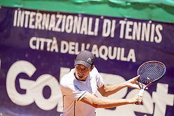 June 21, 2018 - L'Aquila, Italy - Daniel Elahi Galan during match between Roberto Carballs Baena (ESP) and Daniel Elahi Galan (COL) during day 6 at the Internazionali di Tennis Citt dell'Aquila (ATP Challenger L'Aquila) in L'Aquila, Italy, on June 20, 2018. (Credit Image: © Manuel Romano/NurPhoto via ZUMA Press)