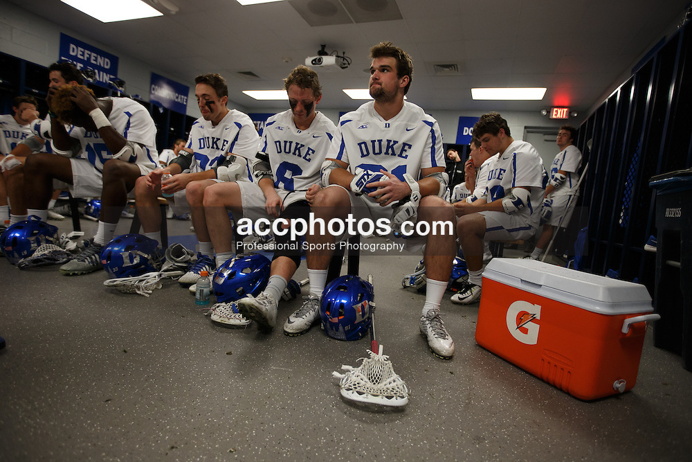 2016 March 22: Duke Blue Devils during a 10-9 OT loss to the Air Force Falcons at Koskinen Stadium in Durham, NC.