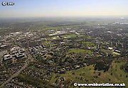 aerial photograph of  Nottingham University  Nottingham Nottinghamshire  England Great Britain UK