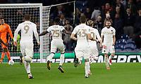 Football - 2017 / 2018 EFL (League) Cup - Third Round: Burnley vs. Leeds United<br /> <br /> Stuart Dallas of Leeds United celebrates scoring at Turf Moor.<br /> <br /> COLORSPORT/LYNNE CAMERON