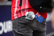 ALBERT PARK, VIC - MARCH 15: Scuderia Ferrari Mission Winnow driver Sebastian Vettel with an Australian Koala Bear toy in his back pocket at The Australian Formula One Grand Prix on March 15, 2019, at The Melbourne Grand Prix Circuit in Albert Park, Australia. (Photo by Speed Media/Icon Sportswire)
