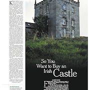 "Tearsheet of ""Rich Americans Snap Up Irish Castles for Love and Discounts"" published in The New York Times"