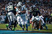 January 17, 2016: Carolina Panthers vs Seattle Seahawks. Stewart, Jonathan scores a touchdown